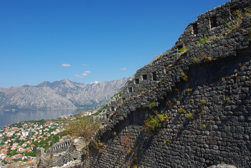 the walls of the fort above Kotor