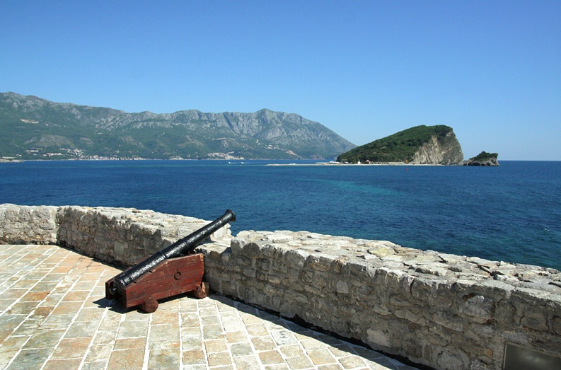 View of Budva Riviera from Citadel
