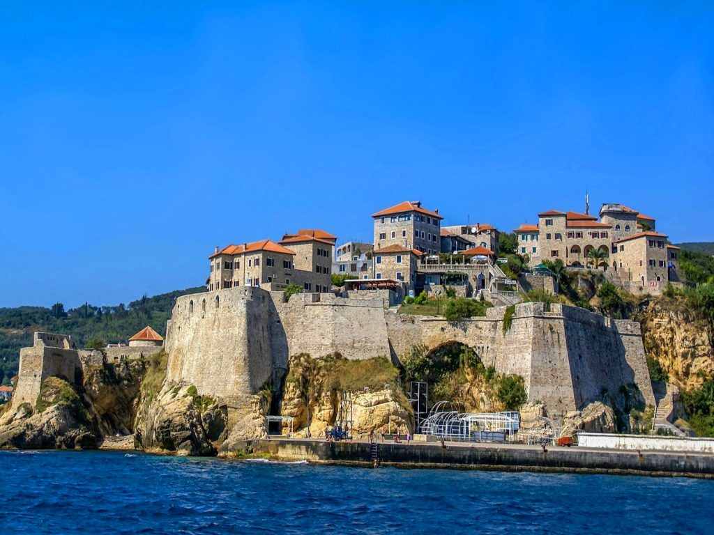 Old town of Ulcinj - View from the Sea