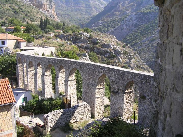 Aquaduct in Old Town of Bar