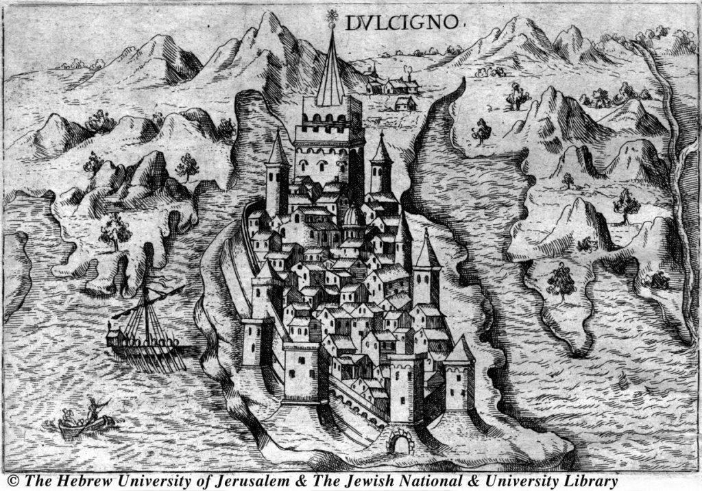 Old Map of Ulcinj