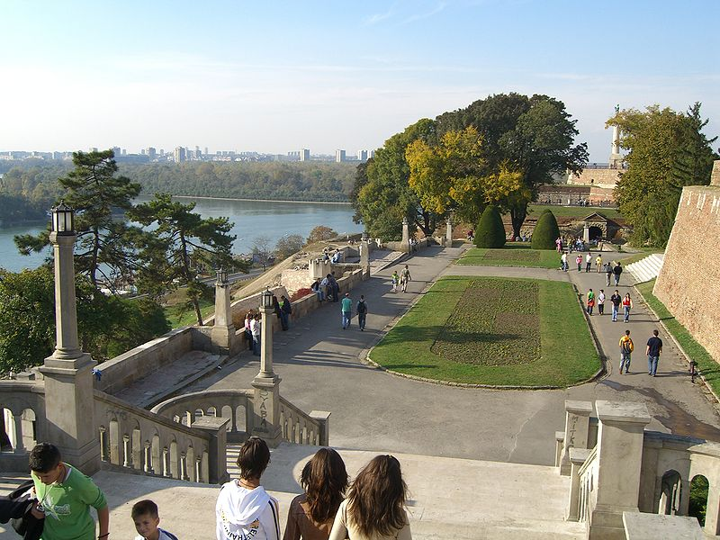 Belgrade Fortress overlooking the Danube River