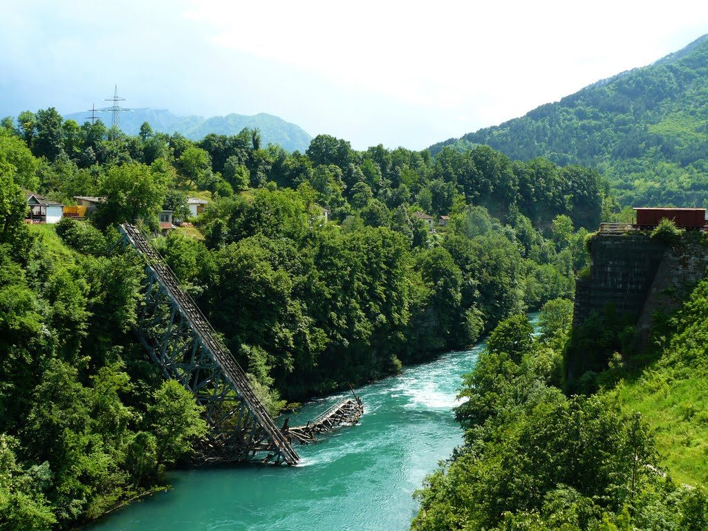 Bridge on Neretva River in Jablanica