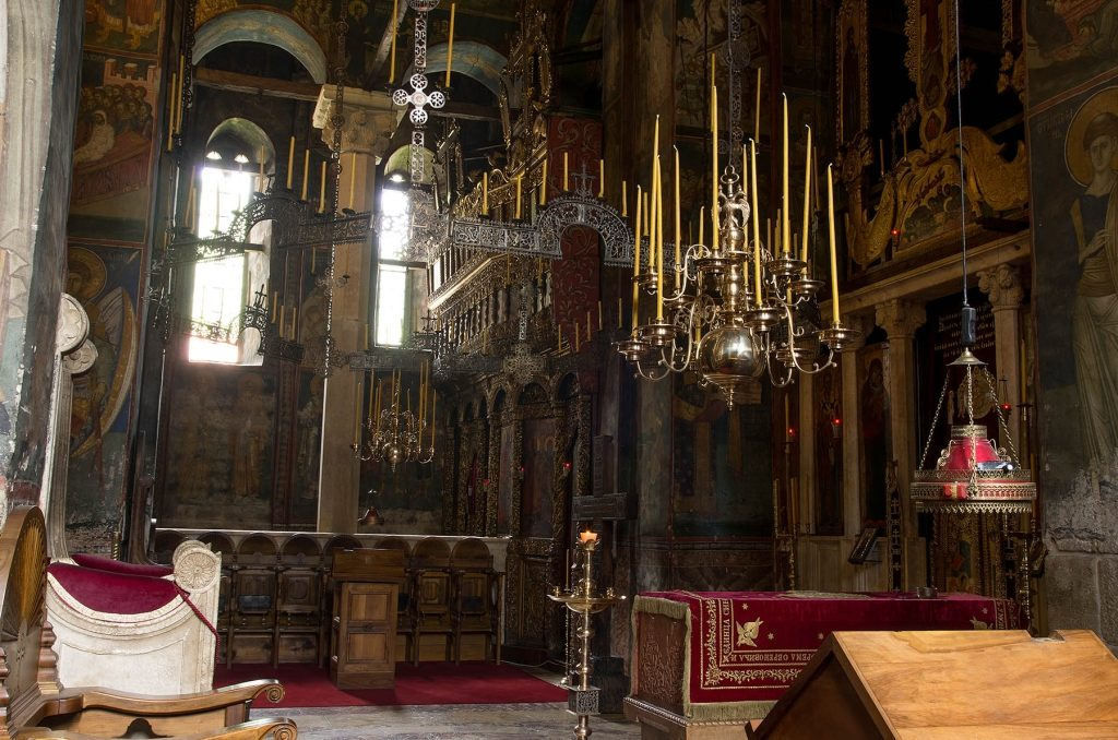 Interior of the Monastery of Decani