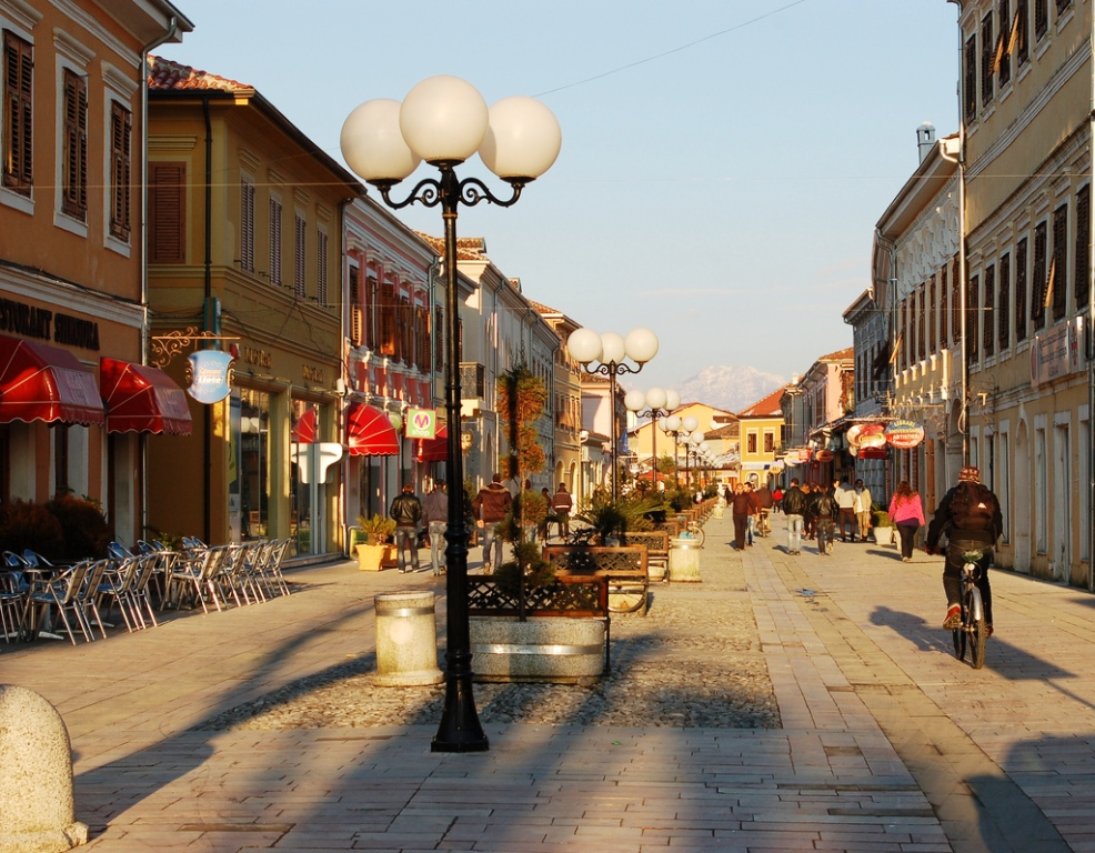 Shkoder - The main promenade