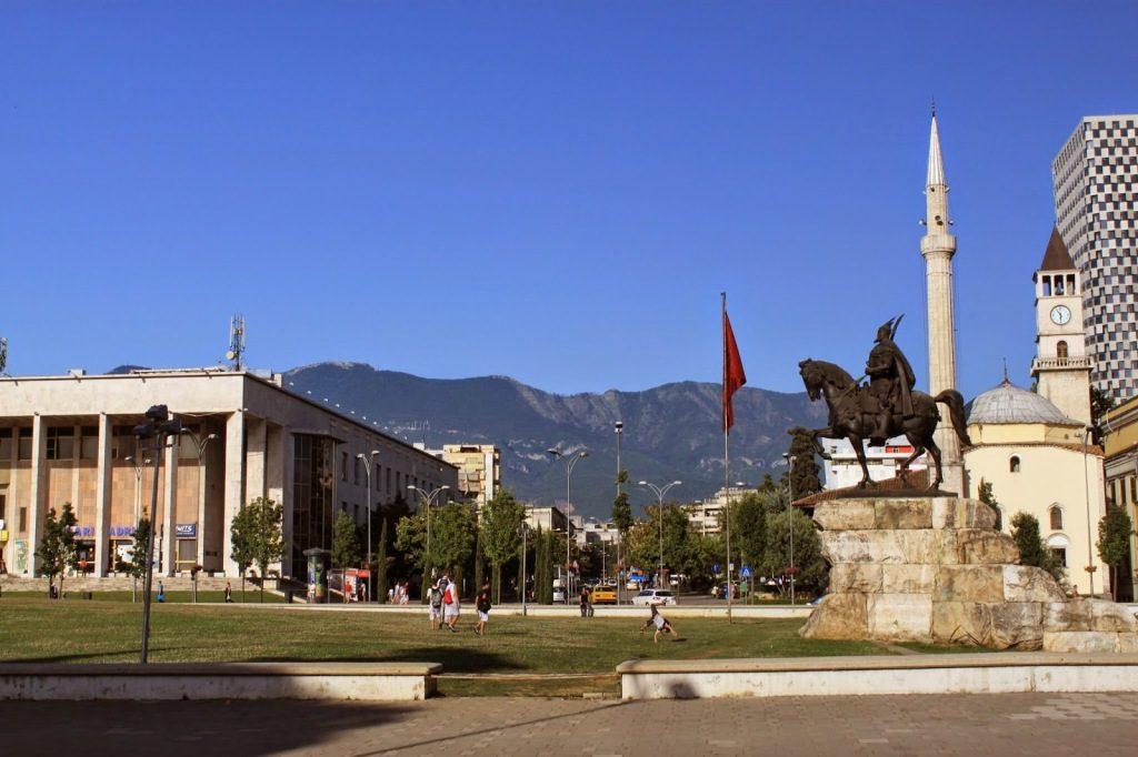 Tirana Albania Skanderbeg Square