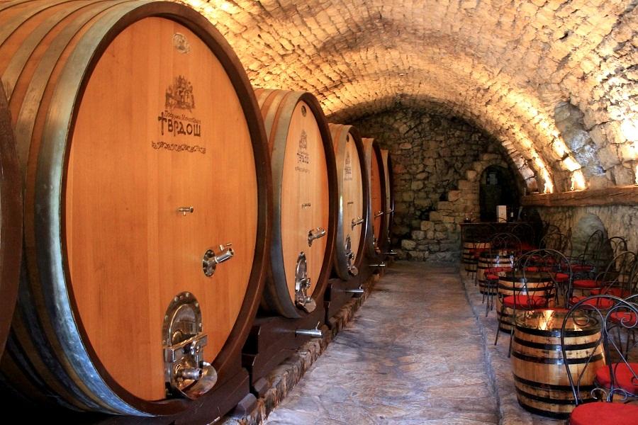 Barrels in Tvrdos Monastery