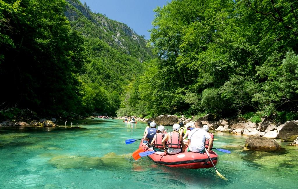 Group Rafting - Tara River Canyon