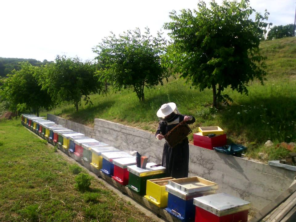 Beehives in Decani Monastery