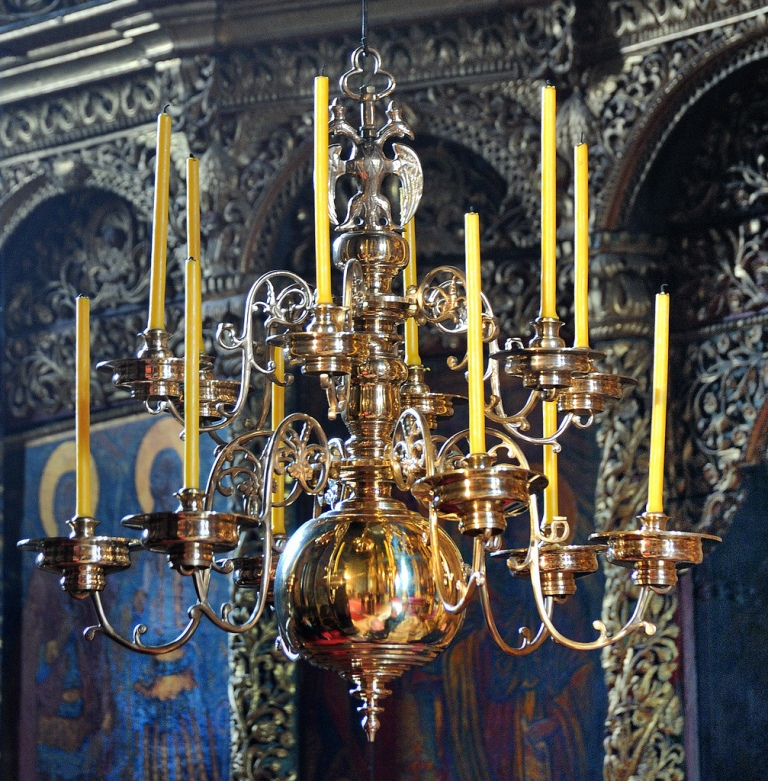 Candle holder in Decani monastery