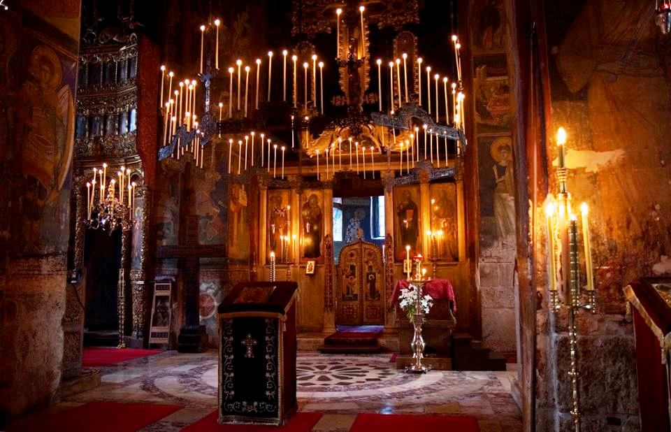 Candlelight in Decani Monastery
