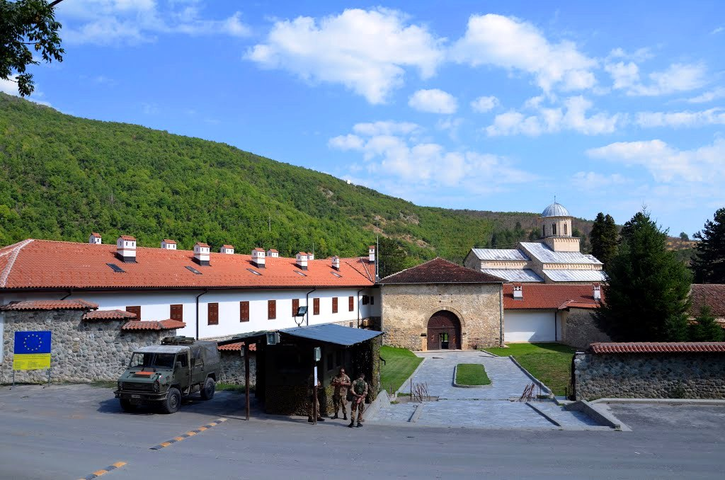 Checkpoint at the entrance to the Decani Monastery
