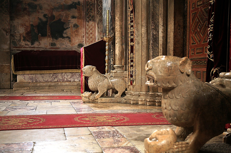 Figures of lions - Decani Monastery