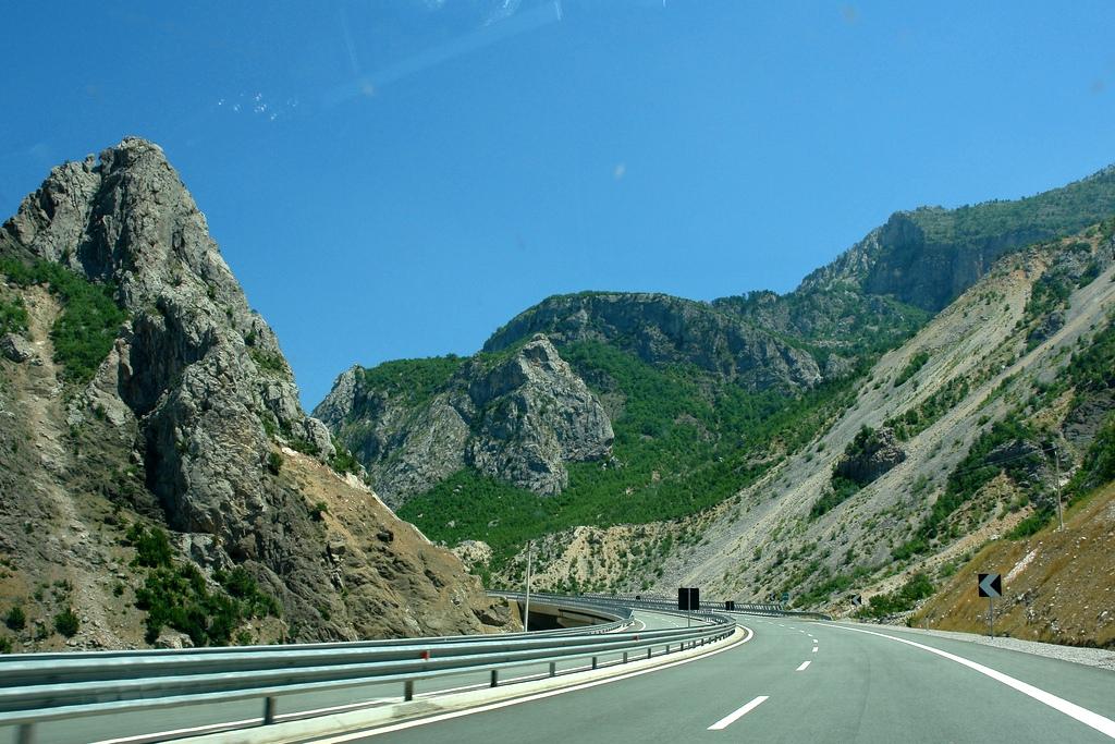Highway Durres-Kukes Albania