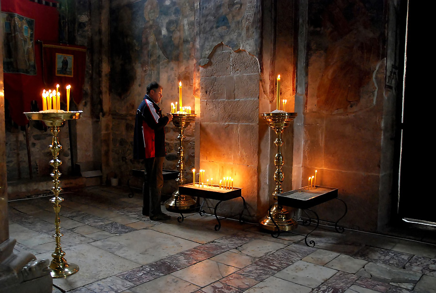 Magnificent candleholders - Decani Monastery