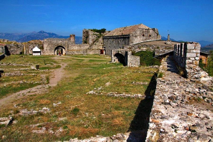 Medieval buildings Rozafa Castle Skadar