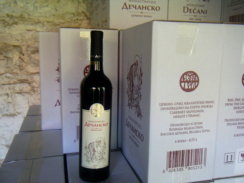 Quality red wine from the monastery Decani