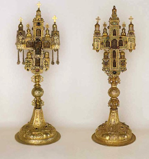 Reliquary Crosses of Emperor Dusan and King Stephen-Treasury of the Decani Monastery
