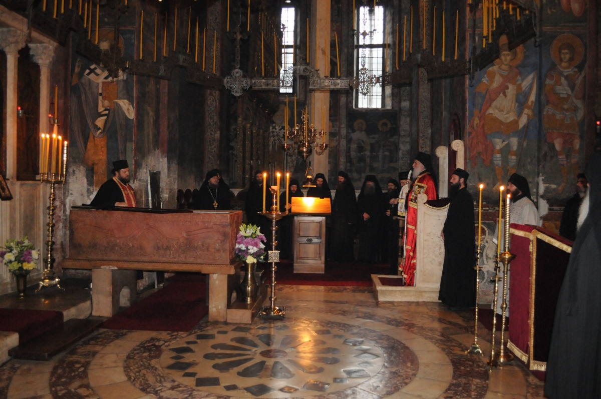 The celebration of St. Stefan - Decani Monastery