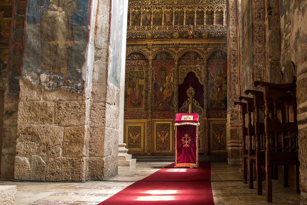 The iconostasis in the monastery of Visoki Decani