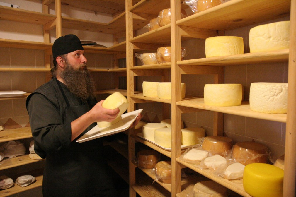 The monks produce excellent cheeses - Decani Monastery