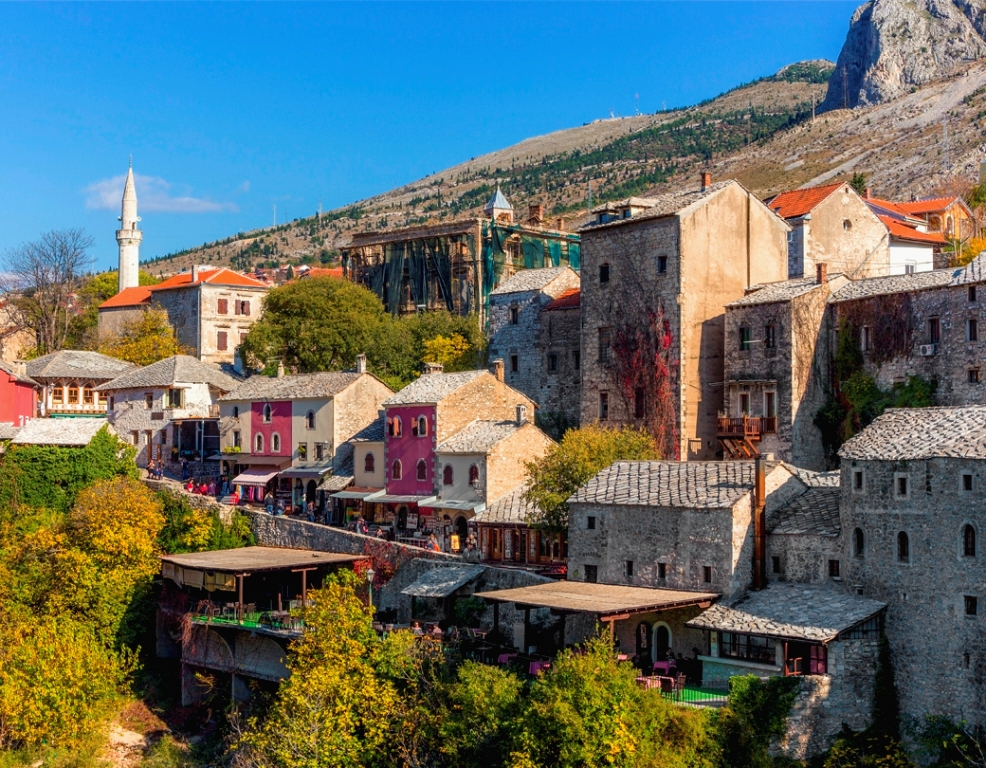 The oldest part of Mostar