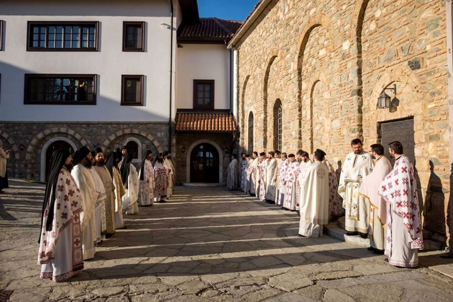 The priests in the Decani Monastery