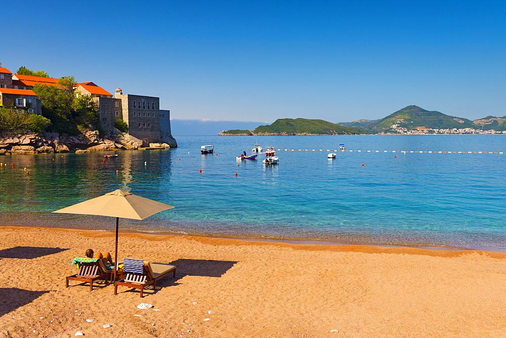 Aman Resort Sveti Stefan - The hotel's private beach