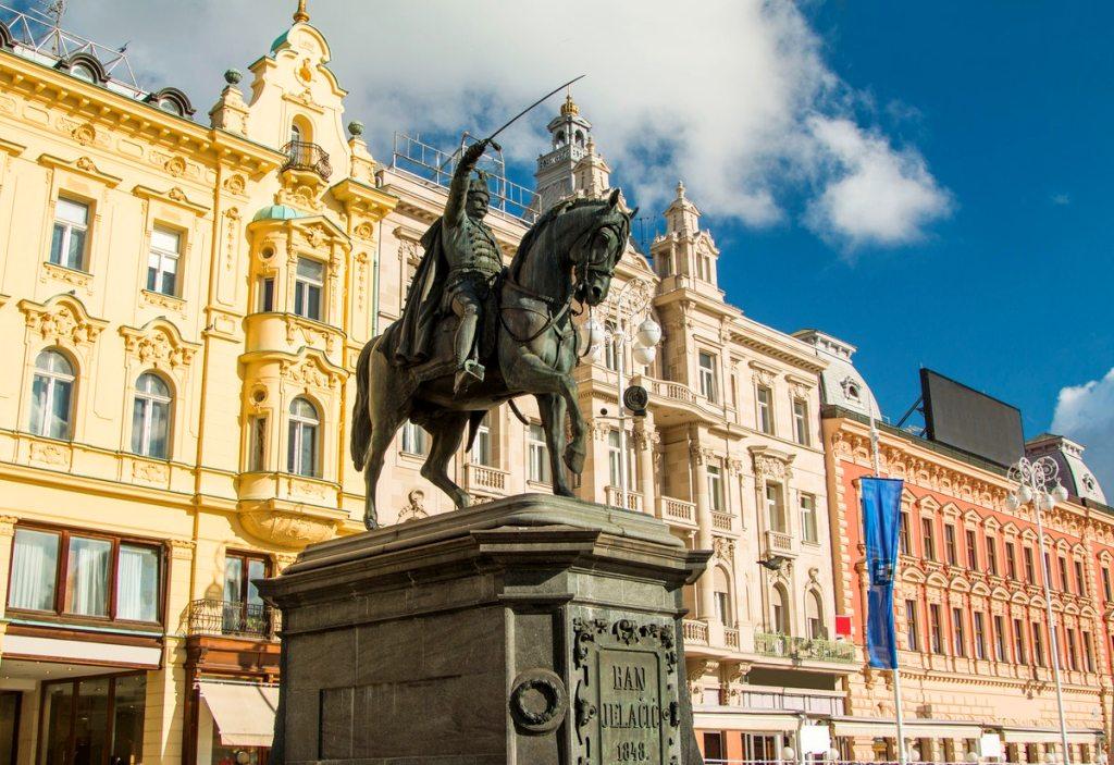 Ban Jelacic Statue-Jelacic-Square Zagreb-Croatia