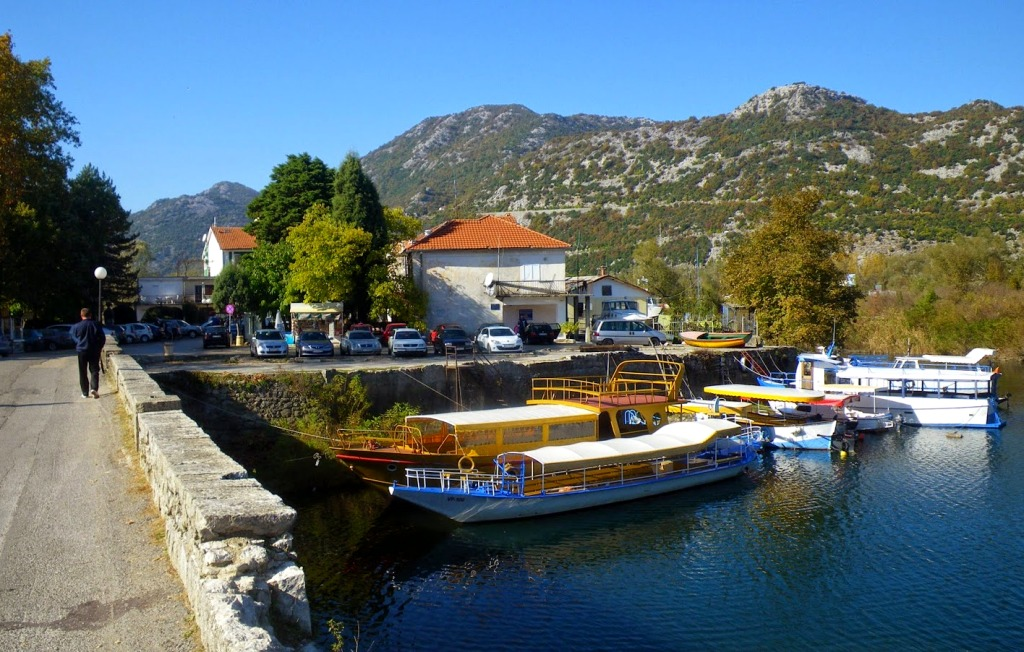 Boats in Virpazar - Skadar Lake