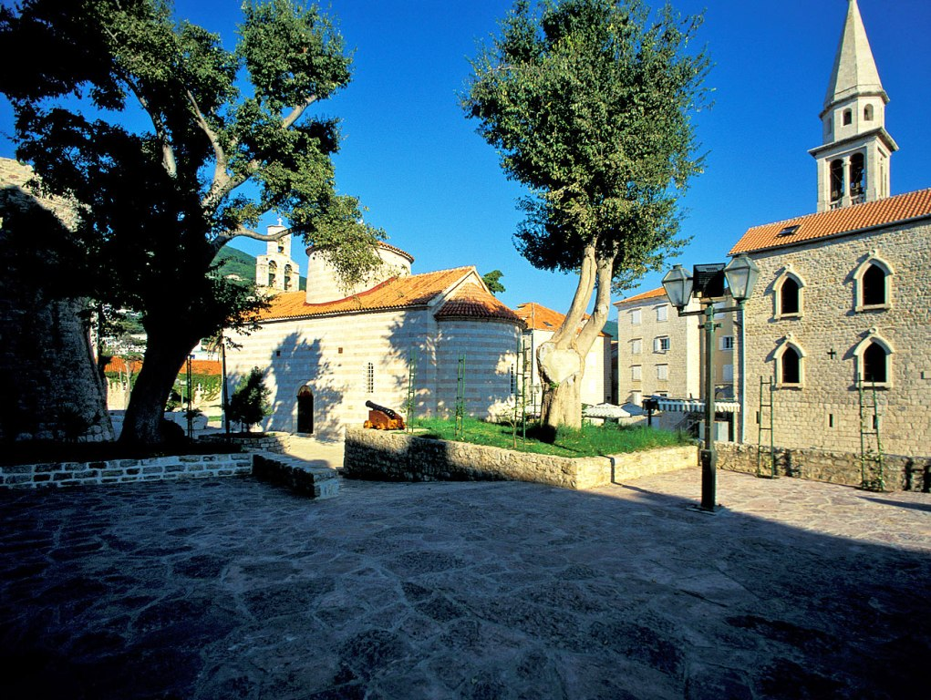 "Budva Old Town - ""Between the churches"" Square"