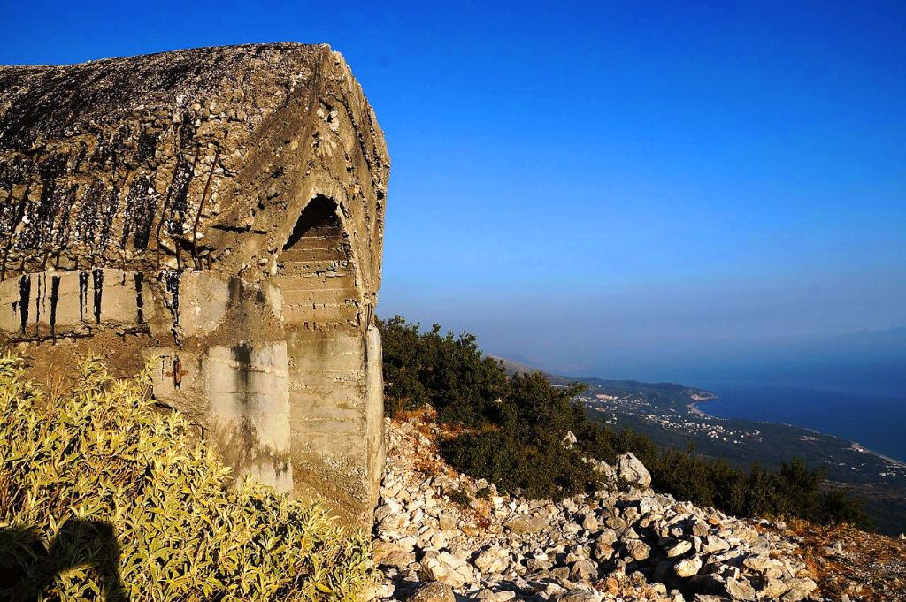Bunker at Llogara pass Albania