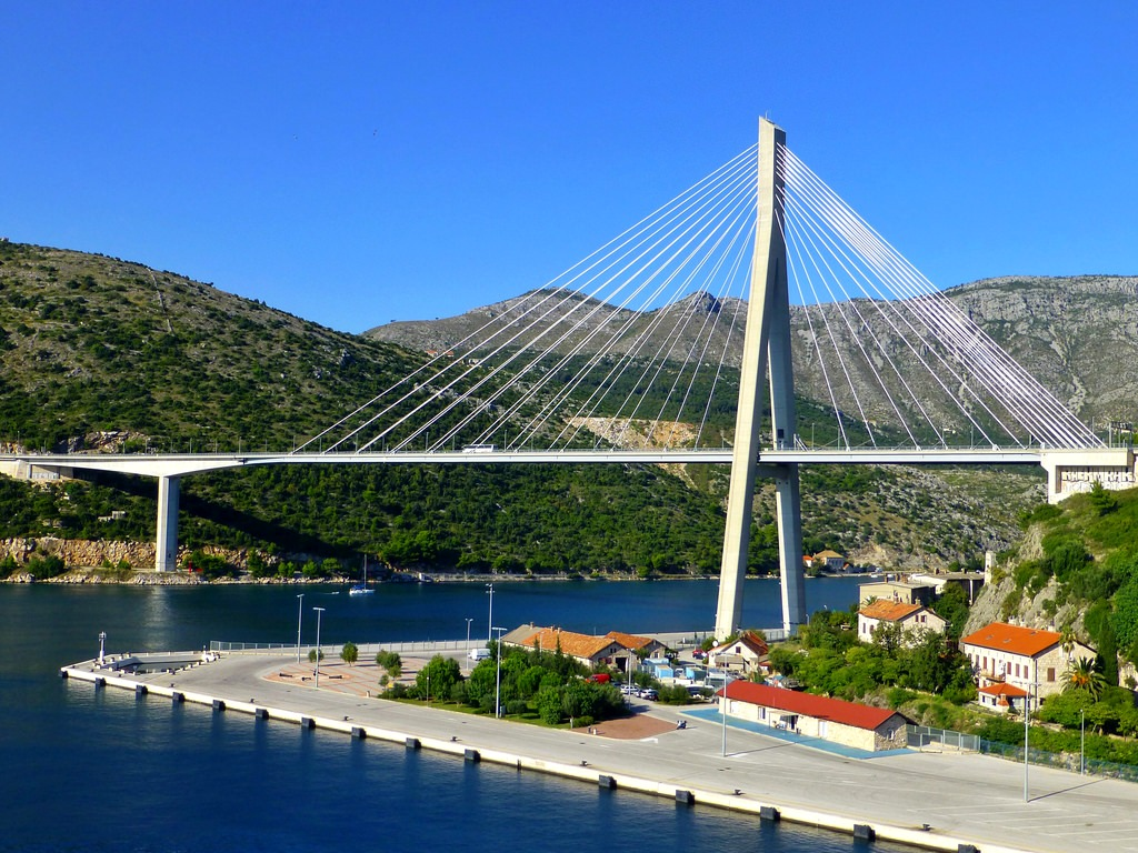 Dubrovnik Bridge (also known as Franjo Tudman Bridge)