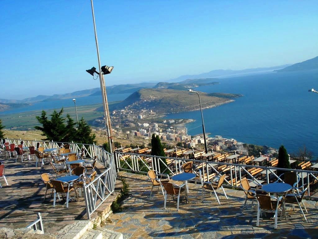 Lekuresi Castle Saranda - view of Corfu across the straits