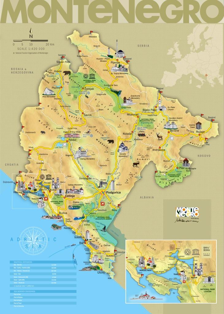 Travel information - Map of Montenegro