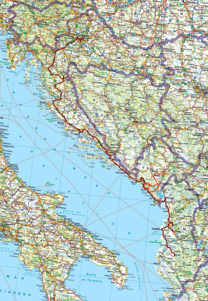 Map of Western Balkans Tour