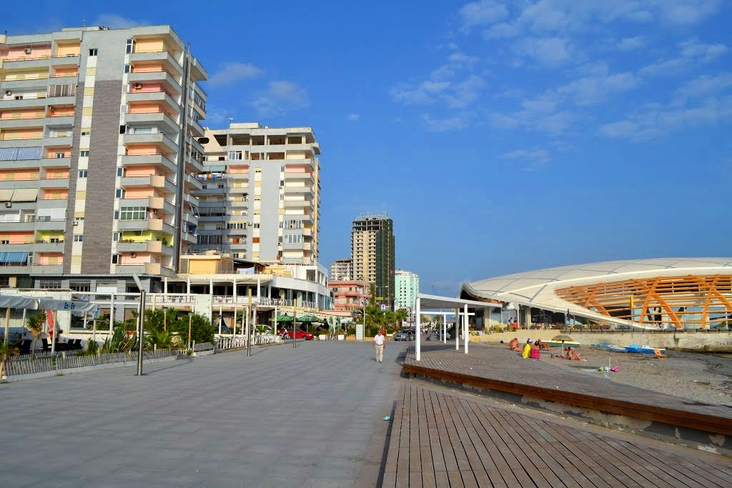 Promenade by the sea Durres - Albania