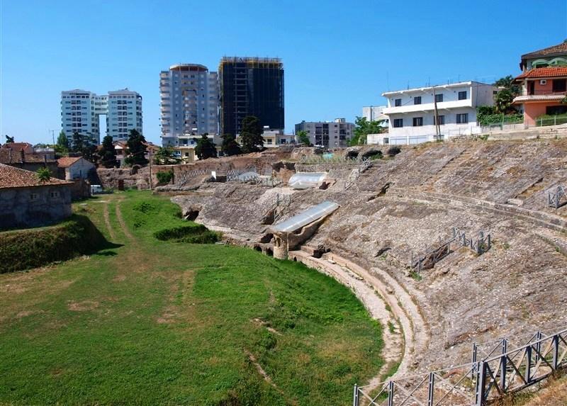Roman Amphitheater in Durres, Albania