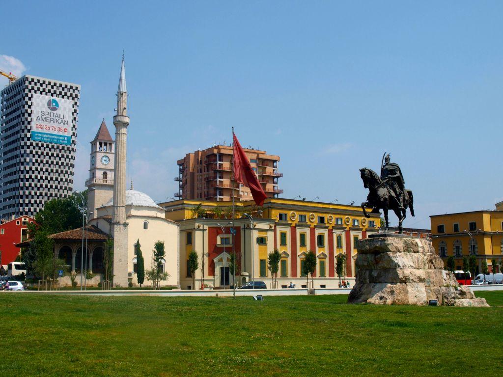 Skenderbeg Square in Tirana - Albania