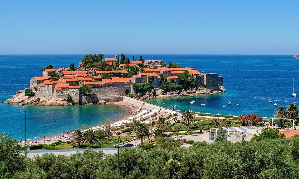 Sveti Stefan famous island-hotel