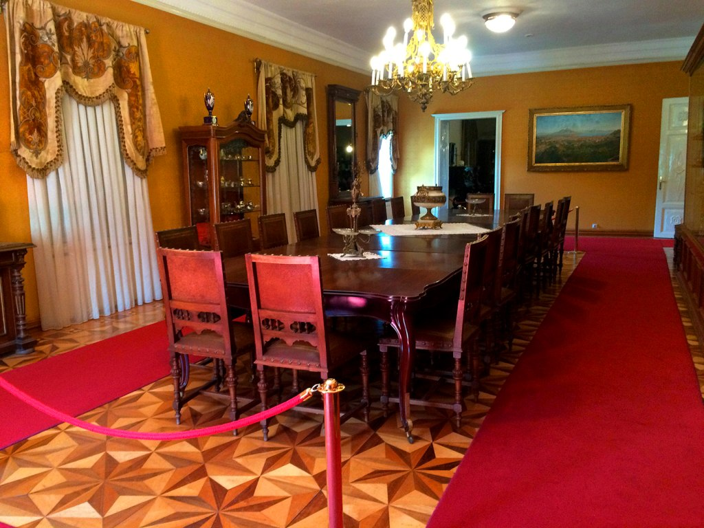 The dining room in the castle of King Nikola Cetinje