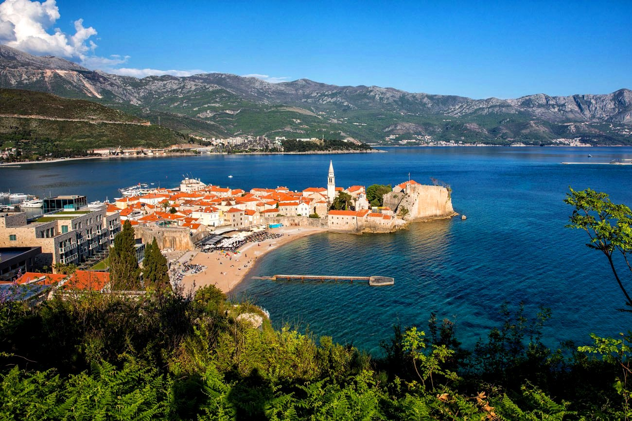 View of the Old Town Budva