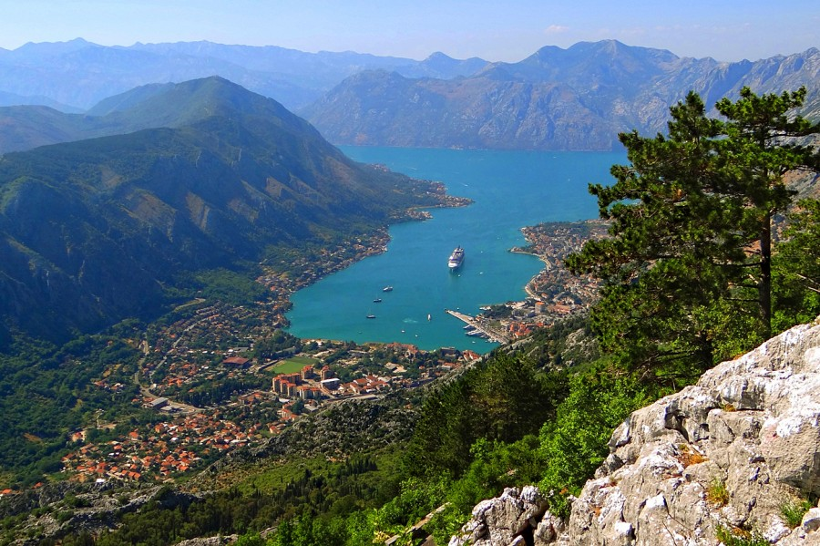 Viewing point at the road Lovcen - Kotor