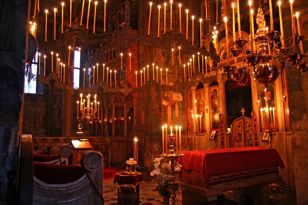 Bougies à Manastir Decani