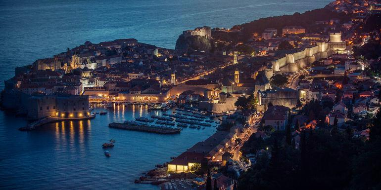 Dubrovnik - Old town at night
