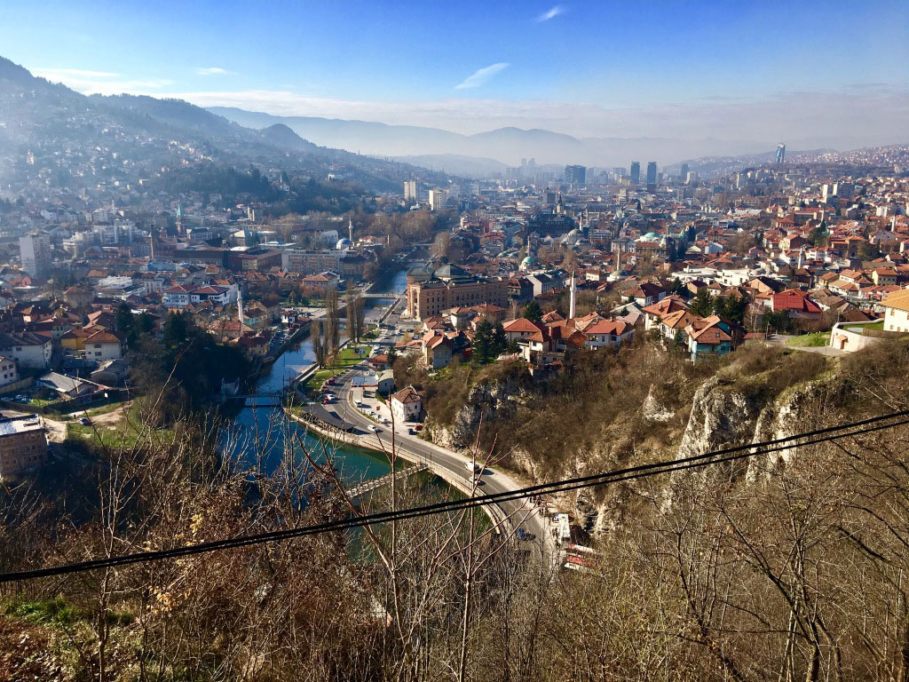 La rivière Miljacka à Sarajevo - Bosnie-Herzégovine