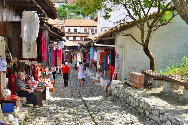 Le Bazar traditionnel de Kruja - Albanie