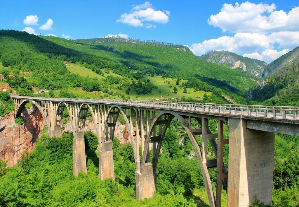 Le pont de la Tara Monténégro