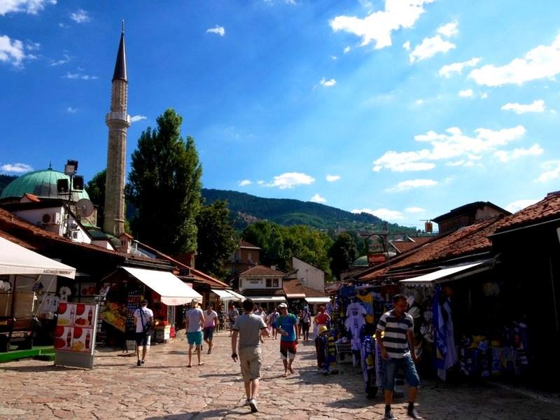 Le quartier de Bascarsija Sarajevo, Bosnie-Herzégovine