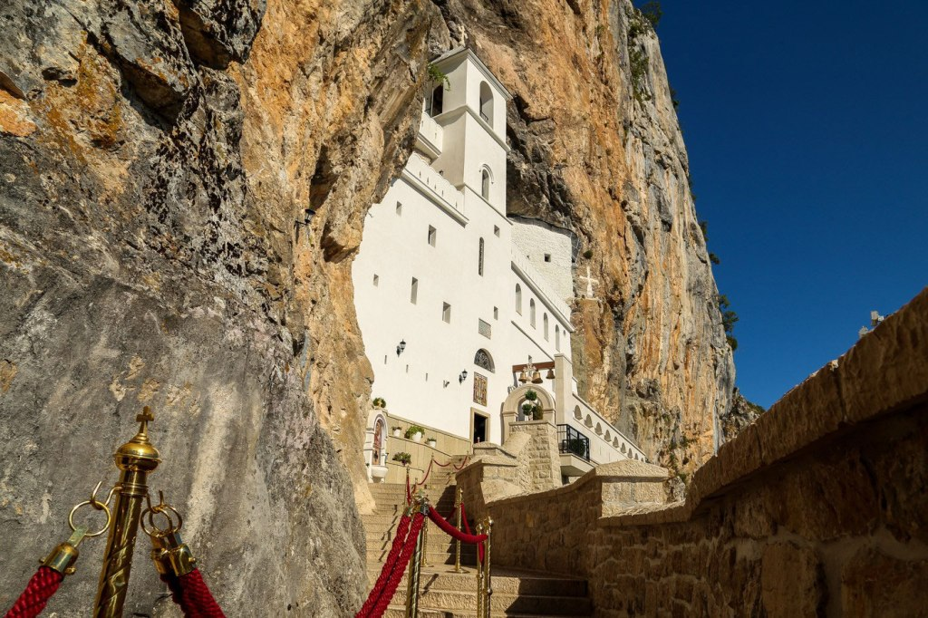 Ostrog - The entrance to the Upper Monastery